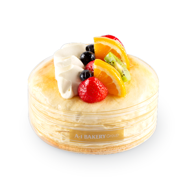 Hokkaido Milk Mille Crepes with Mix Fruits (15cm)