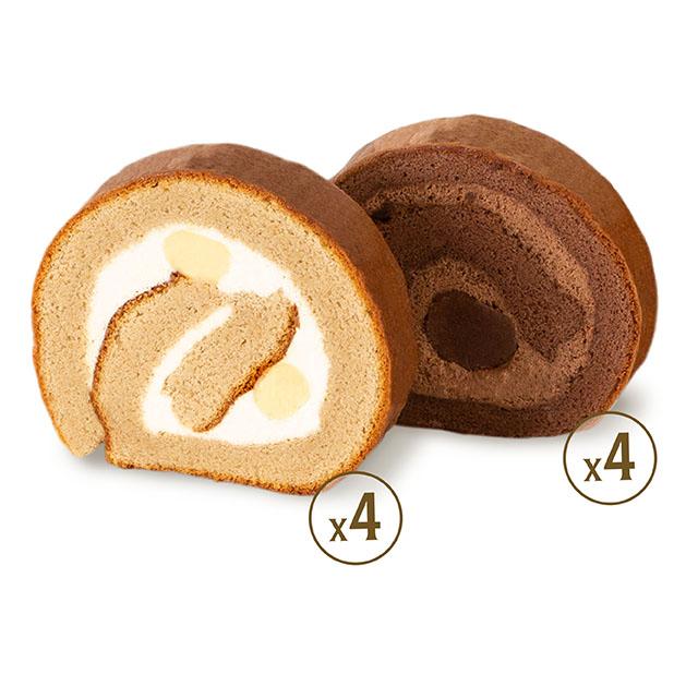 Roll Cake  (designated flavour 8 Pcs)